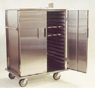 Double Section Non Heated Tray Delivery Cart